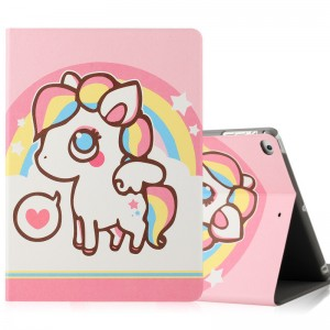 Rainbow Pony - iPad5 / 6 protective case Air2 holster cartoon