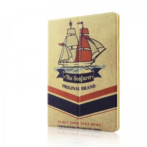 Retro sailing - Apple iPad air2 protective case iPad5 / 6 leather case