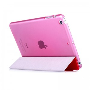 Red - iPad protection cover Apple Tablet PC shell flip bracket