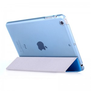 Blue - iPad protection cover Apple Tablet PC shell flip bracket