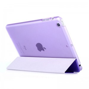 Purple - iPad protection cover Apple Tablet PC shell flip bracket