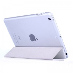 White - iPad protection cover Apple Tablet PC shell flip bracket