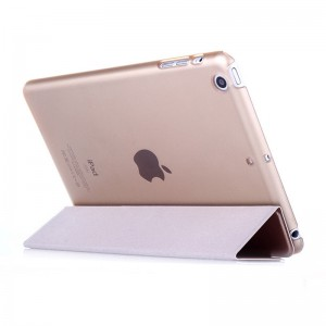 Gold - iPad protection cover Apple Tablet PC shell flip bracket